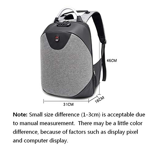 Amazon.com: Mens College Anti-Theft Backpack Business Travel Leisure Laptop Backpack Nylon Waterproof Password Lock Backpack School Bag Set 1: Clothing
