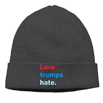 Love Trumps Hate Winter Warm Daily Cotton Beanie Ski Cap Hat