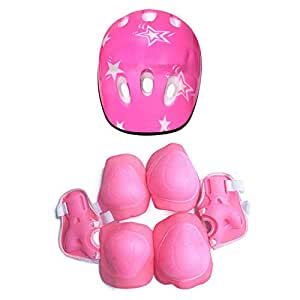 7PCS/SET Universal Children Kids Protective Gear Set Comfortable Scooter Skate Roller Cycling Knee Pads Elbow Pads Set