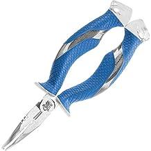 Cuda 7-Inch Titanium Bonded Ring Splitter, Blue