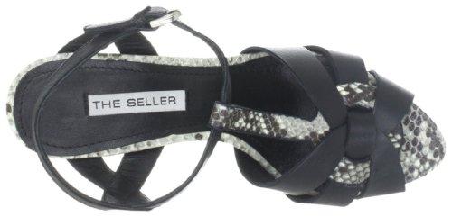 The Seller Adine S511, Damen Fashion-Sandalen Schwarz (bianco/nero)