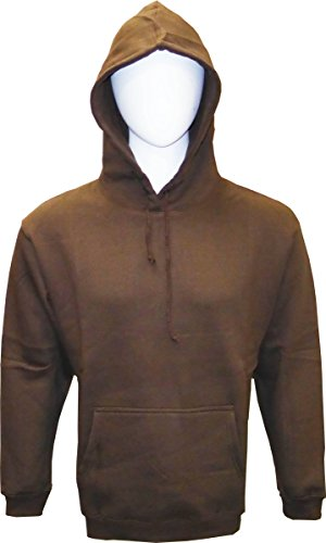 - SPECIEN Adult Hooded Pullover Fleece Sweatshirts Hoodie (Brown, Large)