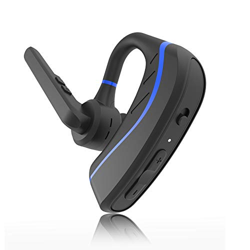 [New] Bluetooth Headset,Aolite Wireless Bluetooth Earpiece Hands-Free in-Ear Earbuds Headphones with Stereo Noise Canceling Mic for Driving/Business/Office, Compatible with iPhone and Android(Blue) (Headphones Bluetooth Free Hands)