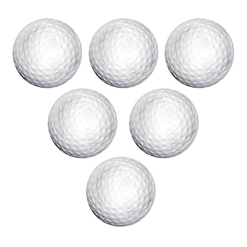 Set of 6 - Golf Ball Stress Reliever Overruns. (Ball Ball Golf Stress)