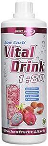 Best Body Nutrition Low Carb Vital Drink Dragon fruit lychee - 1000 ml