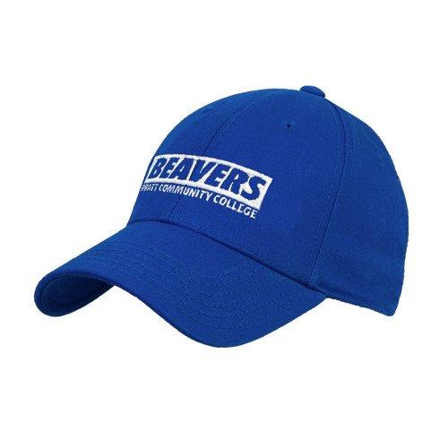 Pratt CC Royal Heavyweight Twill Pro Style Hat 'Pratt Community College Beavers'