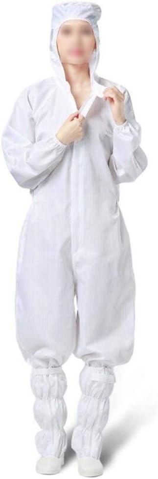 Farbe : Blue , Gr/ö/ße : 3XL Schutzanzug Epidemie Schutzkleidung Siamese K/örper Reusable Elektrostatische Kleidung mit Kapuze staubfreie Werkstatt for Saubere Kleidung Medizinische Schutzkleidung