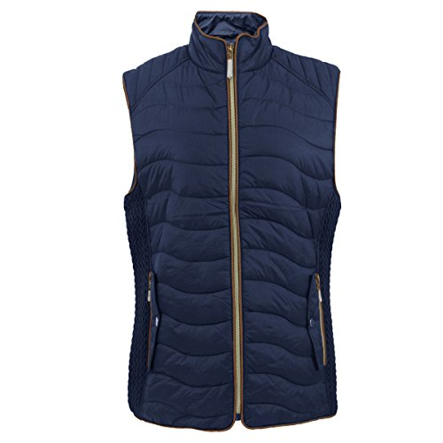 Tanbridge Womens Vest Lightweight Quilted Packable Down Puffer Water-resitant Padded Vest Navy 1XL from Tanbridge