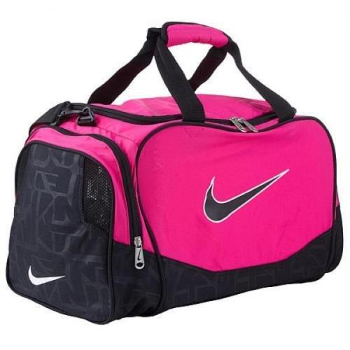 f8dc623ba6 Nike Brasilia Duffel Bag Training Sports Holdall gym Travel Bag Small Pink  Black  Amazon.co.uk  Luggage