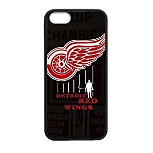 Custom Unique Design NHL Detroit Red Wings Case For Iphone 5/5S Cover Silicone Case