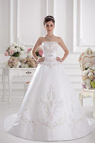 Zug GEORGE Liebsten Gericht Elfenbein A Brautkleider Brautkleid BRIDE Formale Hochzeitskleider Stickerei Linie 60AnwxqO0R