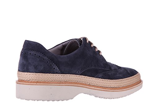 Hogan scarpe stringate classiche uomo in camoscio h217 route derby blu