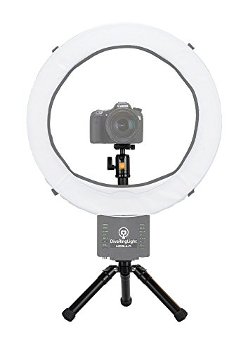 diva ring light super nova 18 dimmable photo video light with mini desk tripod buy online in. Black Bedroom Furniture Sets. Home Design Ideas
