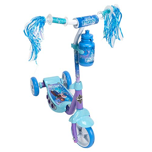 Huffy Disney Frozen Preschool Scooter W/ Lights, Streamers & A Water Bottle