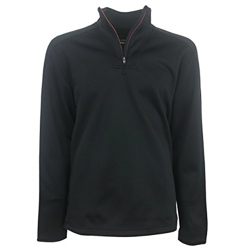 PGA Greg Norman Adult Men Fashion 1/4-Zip Pullover,M,black (Shark Golf Clothing)