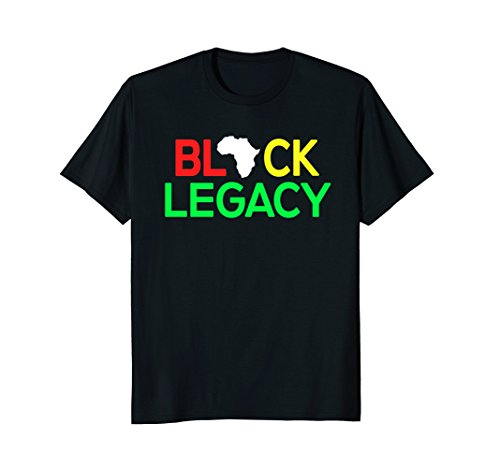 Africa Map T-shirt,Africa Legacy Afro Pro Black T Shirt by African American Party Pride T-Shirts