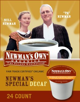 Newman's Own Organics, Newman's Own Special Blend Decaf, K-Cup Portion Pack for Keurig K-Cup Brewers from Green Mountain Coffee
