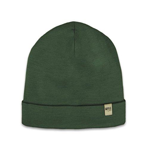 (Minus33 Merino Wool Ridge Cuff Beanie Forest Green One Size)