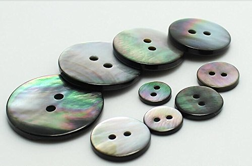 (Wholesale 50Pcs Natural Black Mother Of Pearl Shell Buttons DIY Button Craft Sewing Button Supplier Scrapbooking you pick size)