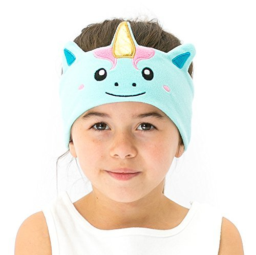 CozyPhones Kids Headphones Volume Limited with Ultra-Thin Speakers & Super Comfortable Soft Fleece Headband - Perfect Children's Earphones for School, Home and Travel - MYSTIC UNICORN