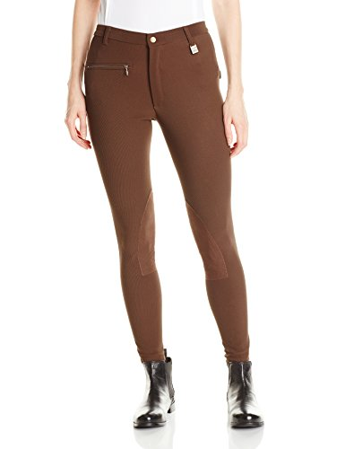 Devon-Aire Women's All Pro Classic Breech, Chocolate, 34 Regular
