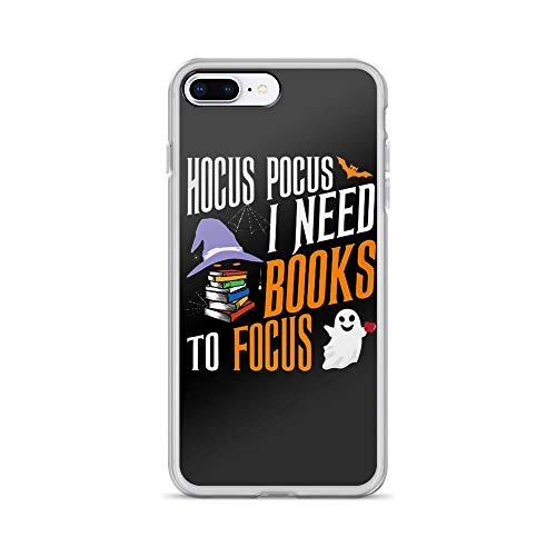iPhone 7 Plus/8 Plus Pure Clear Case Cases Cover Hocus Pocus I Need Books to Focus Happy Halloween Funny Ghost]()