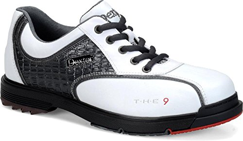 Dexter Men's T.H.E 9 Bowling Shoes, Size 7, White/Grey Croc B3100-9-070