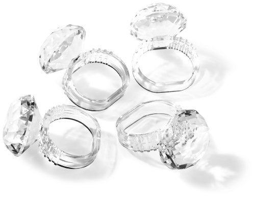 Prodyne AN-60 Jubilee Acrylic Diamond Napkin Rings Set of 4