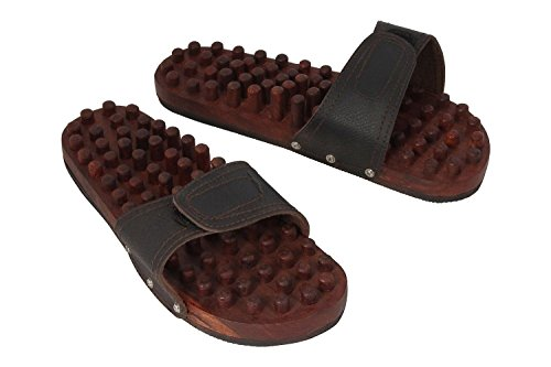 Crafts'man Wooden Relaxing Acupressure Foot/Feet Massager Slippers
