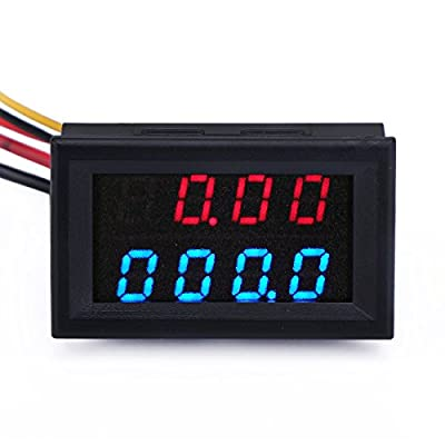"""DROK 0.36"""" 5 Digits DC 0-33.000V 12V LED Digital Display Voltmeter 3 Wires Voltage Tester Monitor High Accuracy Volt Testing Panel Gauge …"""