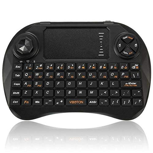 Wireless 2.4GHz Fly Air Mouse Keyboard Remote Control Touchpad For Android Box PS3 HTPC IPTV - Mini Keyboard & Remote Mini Keyboard - (Black) -1 x Fly Air Mouse Remote Control, 1 x Wireless receiver (Bowl Angular)