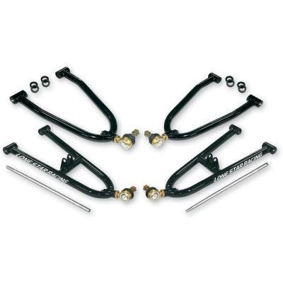 Lonestar Racing 17-411807 Gloss Black +2.5'' Wide +1'' Forward Placement Sport Style A-Arm for Honda TRX450