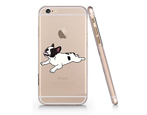 Cute French Bull Dog Clear Transparent Plastic Phone Case Phone Cover for Iphone 6PLUS_ SUPERTRAMPshop (VAS613.7sl) (iphone 6 plus) (French Bulldog 6plus Case compare prices)
