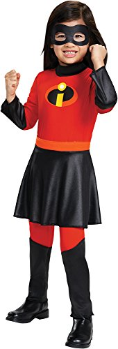 Disguise The Incredibles Outfit Superhero Theme Party Toddler Violet Costume, Toddler M (3-4T) -