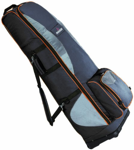 Paragon Advocate X Golf Travel Bag with Wheels (Black/Silver)