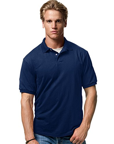 Hanes Stedman Jersey Knit Polo shirt - NAVY - ()