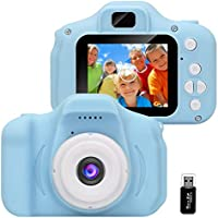 GlobalCrown Kids Camera,Mini Rechargeable Child Digital Camera Shockproof Video Camcorder Gifts for 3-8 Year Old Boys...