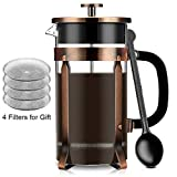 Best french coffee press - French Coffee Press Maker, Famirosa Glass French Press Review