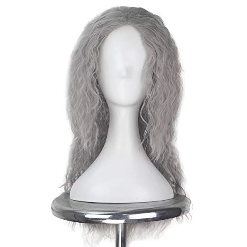 Miss U Hair Men's Long Fluffy Curly Hair Punk Heavy Metal Wig 70s 80s Halloween Cosplay Costume Wig -