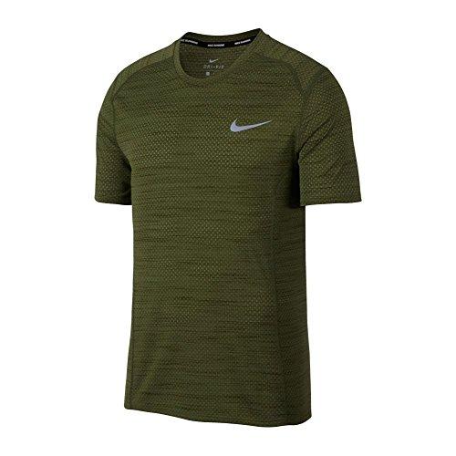 New Nike Men's Dry Miler Running Top Palm Green /Legion Green 2XL