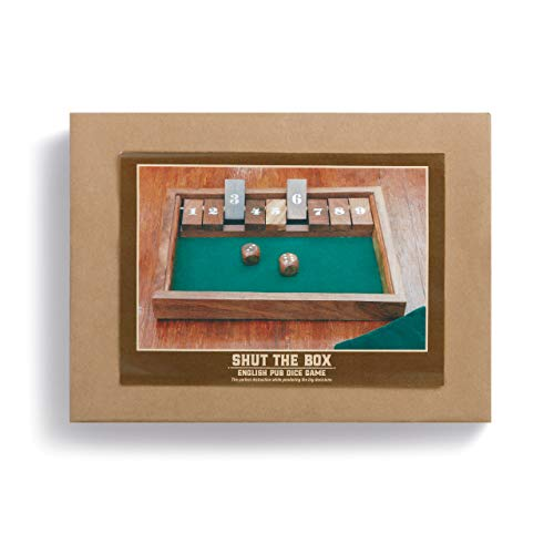 Handcrafted Shut The Box Natural Rich Tone Solid Wood Executive Game Set