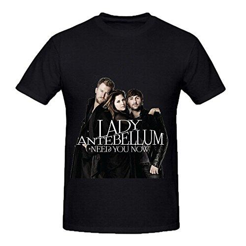 lady-antebellum-need-you-now-soundtrack-men-round-neck-funny-shirts-black