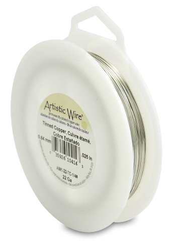 - Artistic Wire 22 Gauge, Tinned Copper, 1/4 Pound (113 Grams) Craft Wire,