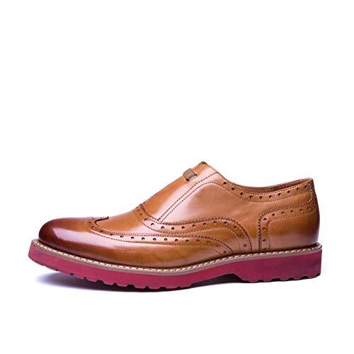 Black Beige Cuero Size Zapatos Hombres Color para Zapatos Hombres Zapatos 38 Oxford de para Cuero Zapatos EU de Casuales Ligeros Zhuxin Brock cómodos HAUBgqg