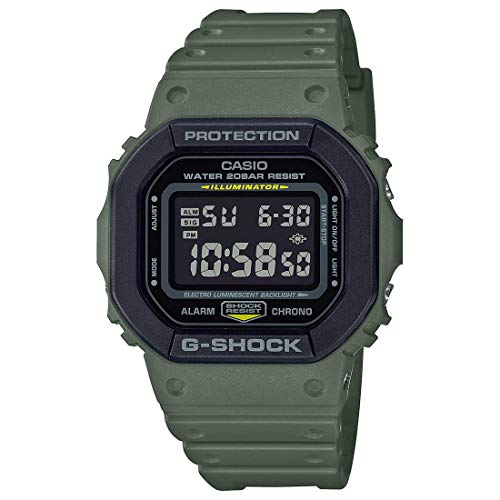 G-Shock Mens Quartz Watch, Digital Display and Resin Strap - DW-5610SU-3DR