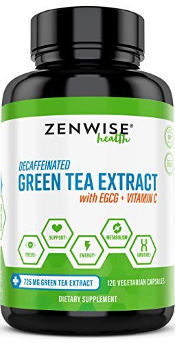 Green Tea Extract Supplement with EGCG & Vitamin C - Antioxi