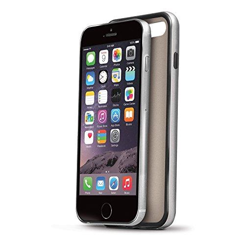 Celly BPCIPH6PGD Silikon Bumper Schutzhülle mit Metall-Effekt für Apple iPhone 6/6S Plus gold