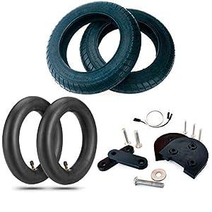 EWheel | Kit di ruote da 10 pollici Wanda originale 380 g per Xiaomi M365, 1S, Essential, Pro e Pro2 | 2 coperture Wanda | 2 telecamere 10 x 2 anti-foratura | Alza e cavo prolunga di luce 5 spesavip