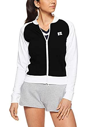Russell Athletic Women's Zip Thru Sweat, Black, 10