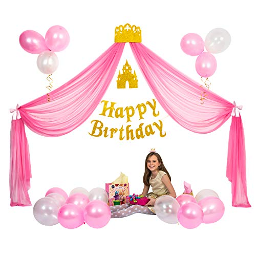Princess Party Supplies for Girls, Birthday Decorations Set,